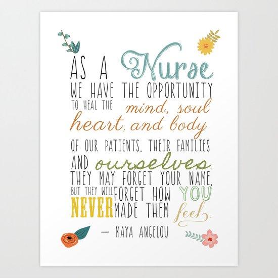 As a Nurse... Art Print