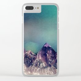Mini Mountains Clear iPhone Case
