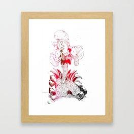 crazy chicken Framed Art Print