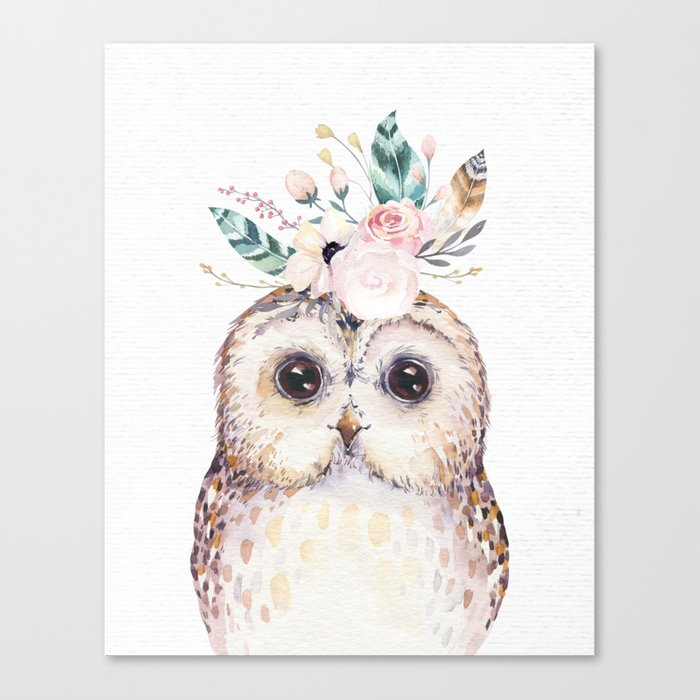 Forest Owl by Nature Magick Canvas Print