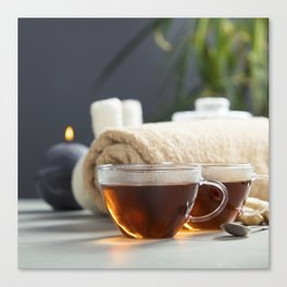 tea and spa composition Canvas Print