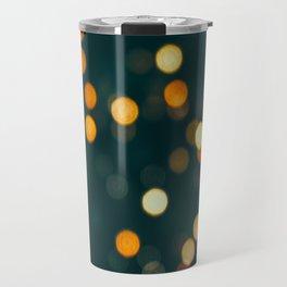 Bokeh Blurred Lights Shimmer Shiny Dots Spots Circles Out Of Focus Travel Mug
