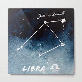 Libra Zodiac Constellation 2 Metal Print