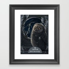 solar owl jupiter  Framed Art Print