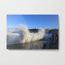 Castle Waves Metal Print