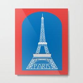 Paris, France - Skyline Illustration by Loose Petals Metal Print
