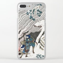 Hokusai Katsushika - Hunters By A Fire In The Snow Clear iPhone Case