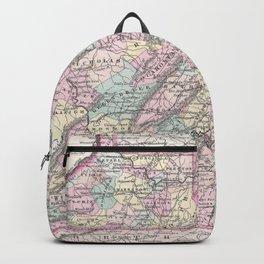 Vintage Map of Virginia (1855) Backpack