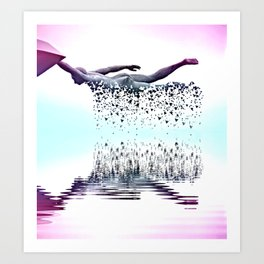 Disintegration by GEN Z Art Print