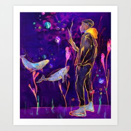 Obscured By Art Print