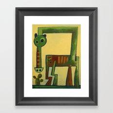 Giant Green Horse Dragon Framed Art Print