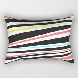 Abstract modern colorful geometric lines pattern Rectangular Pillow
