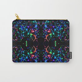 Night Splatter Neon Lights Carry-All Pouch