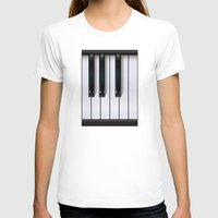 piano T-shirts featuring Piano by rob art | illustration