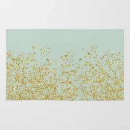 Golden ombre - icy mint Rug