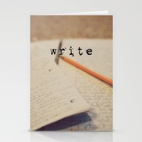 write Stationery Cards featuring write by KimberosePhotography