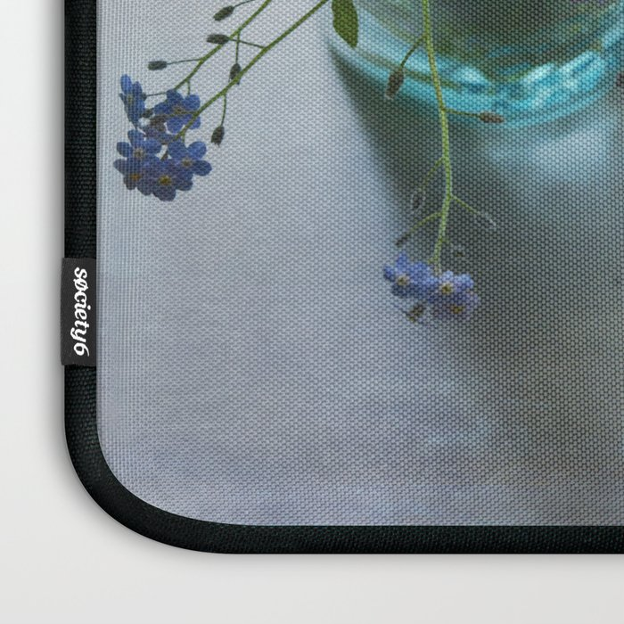 Forget-me-not bouquet in Blue jar Laptop Sleeve