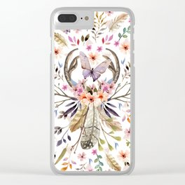 Boho nature circle Clear iPhone Case