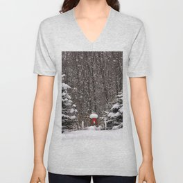 Christmas in the Country Unisex V-Neck