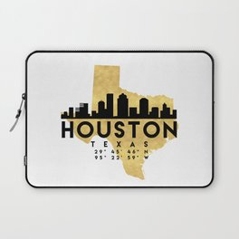 HOUSTON TEXAS SILHOUETTE SKYLINE MAP ART Laptop Sleeve
