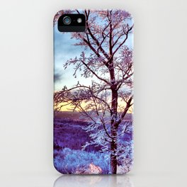 Icy Forest Awakens iPhone Case