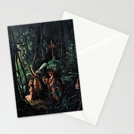 12,000pixel-500dpi - Francois Auguste Biard - Amazonian Indians Worshiping the Sun God Stationery Cards