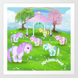 g1 my little pony stylized Collector ponies Art Print