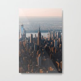 Bird's eye view of Empire State Building NYC Metal Print
