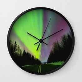 Northern Lights|Aurora|Alaska Wall Clock