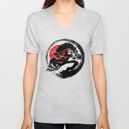 Bonsai strokes  Unisex V-Neck