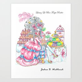 Marie Antoinette: Eat King Cake Art Print