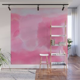 Abstract Hand Painted Pink Lavender Watercolor Wall Mural