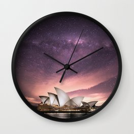 Starry Night, Sydney Opera House - Australia Wall Clock