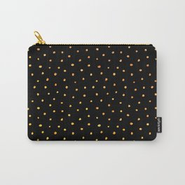 Gold polka dots on black Carry-All Pouch