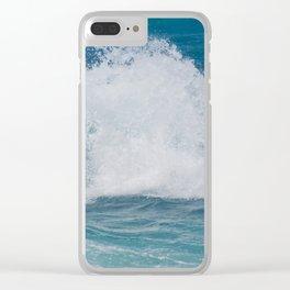 Hookipa Splash Waves Beach Break Shore Break Pacific Ocean Maui Hawaii Clear iPhone Case