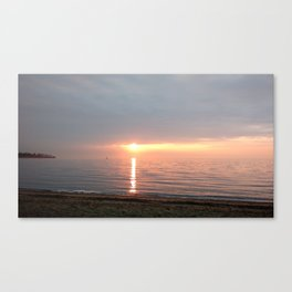 Juicy-looking seas in Southport, CT at Sunrise Canvas Print