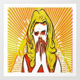 Blonde bombshell pop art Art Print
