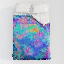 ELECTRIC SKY, design 1 in portrait Comforters