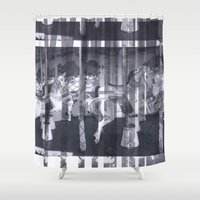 glitch Shower Curtains featuring Glitch  by Electra Withey