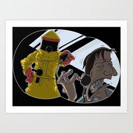 Darth Vader from planet Vulcan Art Print