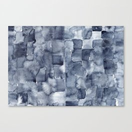 Indigo Watercolor Canvas Print