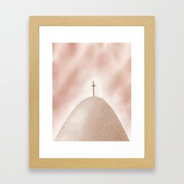 God's Rescue Plan | Earthy Framed Art Print