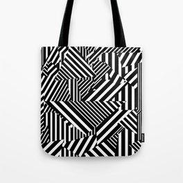 Dazzle Camo #01 - Black & White Tote Bag
