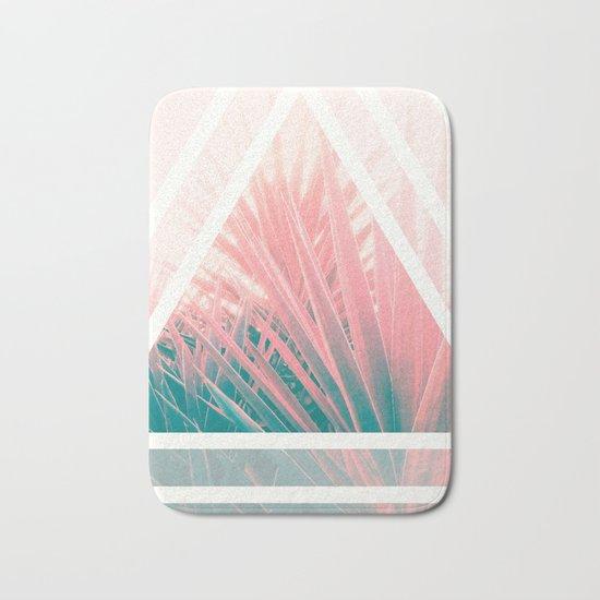 Pastel Palms into Triangle Bath Mat