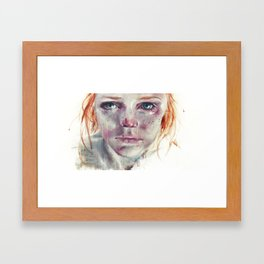 my eyes refuse to accept passive tears Framed Art Print