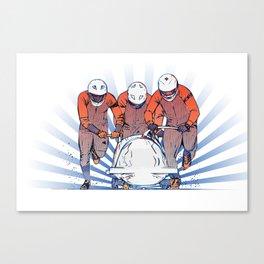 Cool Runnings - Bobsleigh 4 men team Canvas Print