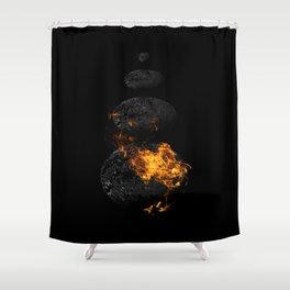 Fire & Ice / Feuer und Eis Shower Curtain