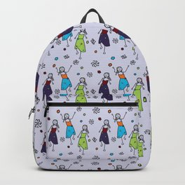 Hippie Chicks Dancing to the Music Backpack