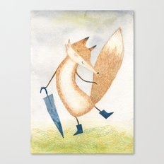 It stopped raining, Mr Fox Canvas Print