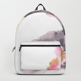 Watercolor Pink Black Flow | [dec-connect] 29. chasm Backpack